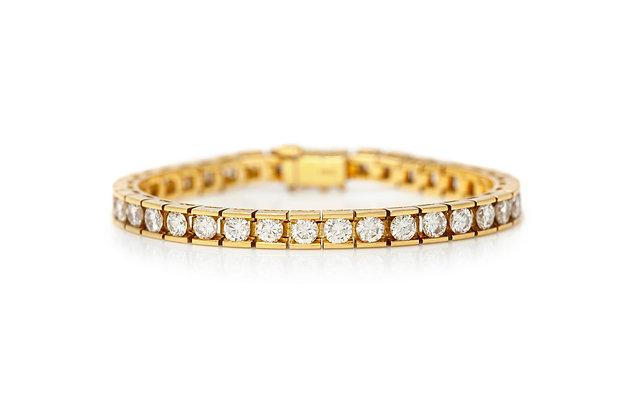1970's 11.00 Carat Channel Set Diamond Bracelet Front View