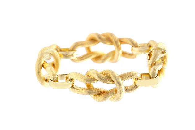 18K Gold Knot Link Bracelet