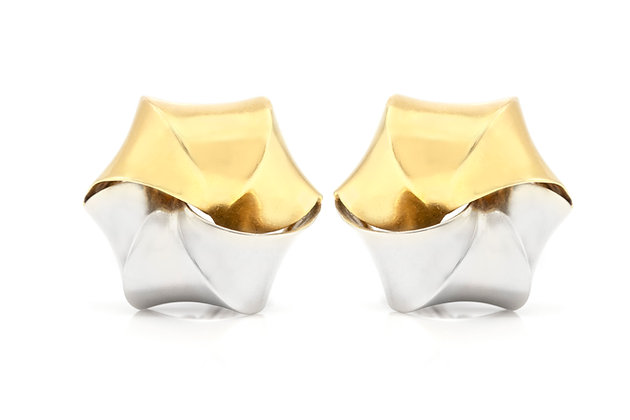 Pomellato Two-Toned Clip-On Earrings front view