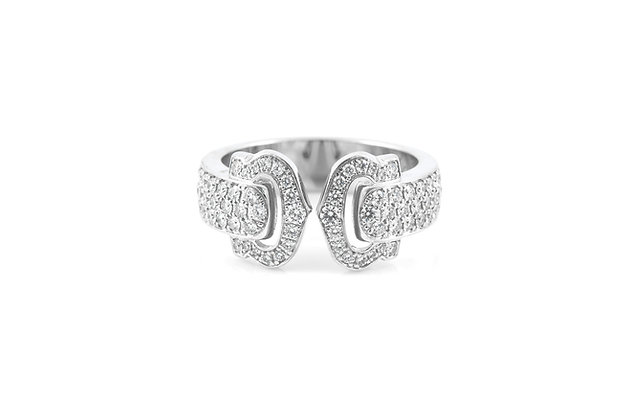 Cartier Logo Diamond Ring top
