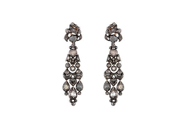 Chandelier Original Georgian 1860's with Rose Cut Diamond Earrings