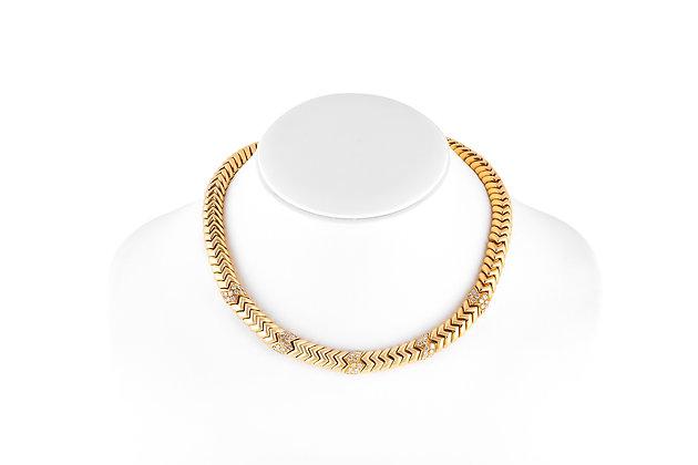bvlgari spiga necklace front view
