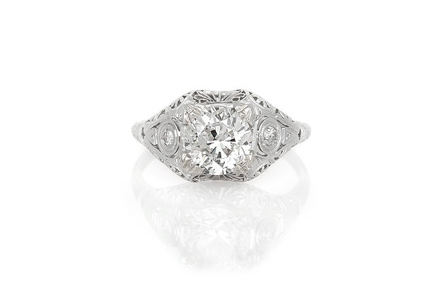 1.79 Carat Edwardian Engagement Ring