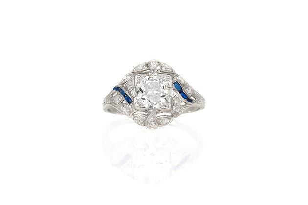 0.90 Carat Art Deco Engagement Ring