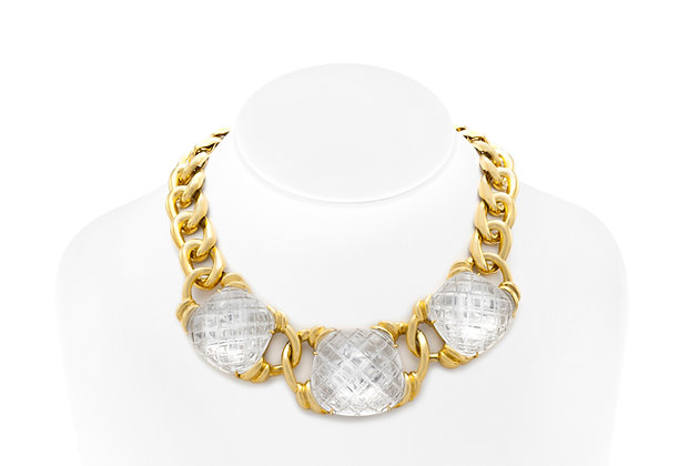David Webb Three Crystal Necklace