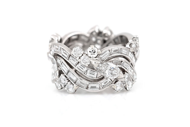 Platinum Ring with Diamonds