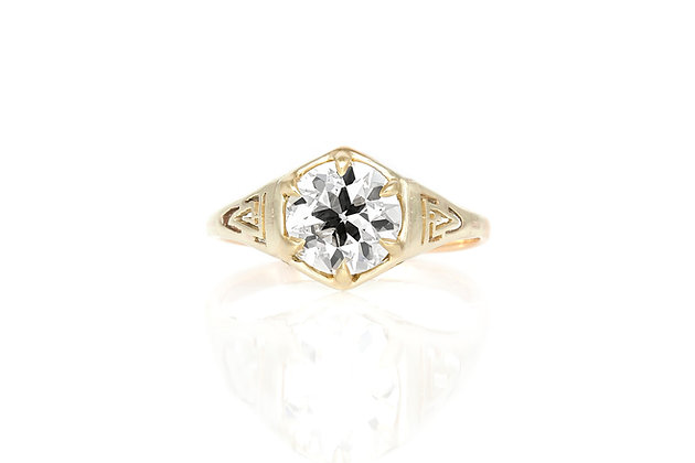 1.26 Art Deco Engagement Ring