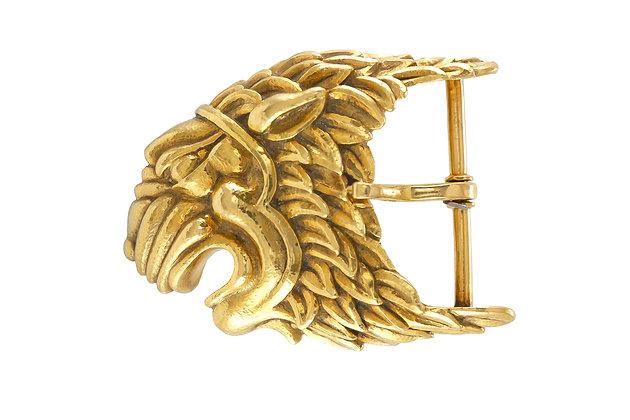 David Webb Gold Lion Belt Buckle