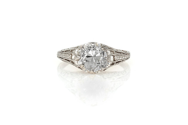 2.01 Carat Edwardian Engagement Ring