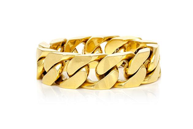 Link Gold Bracelet Front View