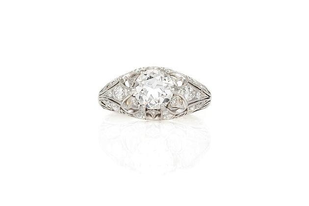1.30 Carat Edwardian Engagement Ring