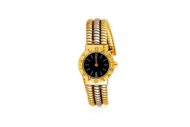 Bulgari 18 Carat Gold Watch front view
