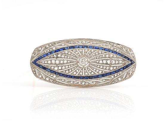 Art Deco Diamond Brooch front
