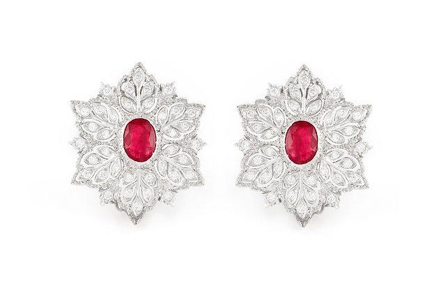 Buccellati Ruby Earrings front