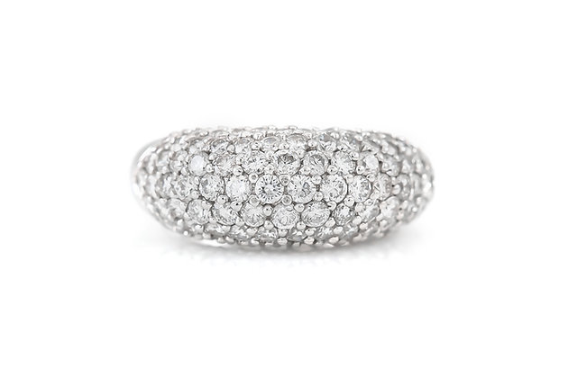 White Gold Ring with Diamonds top