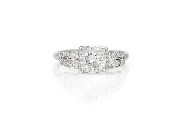 1.10 Carat Art Deco Engagement Ring