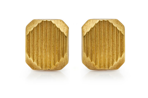 Gold Cufflinks Front View