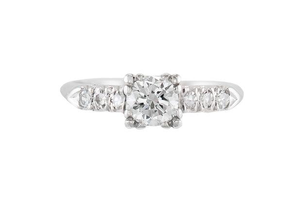0.64 Carat Diamond Art Deco Ring