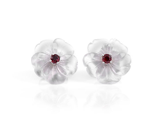 Tiffany & Co. Crystal and Ruby Earrings front