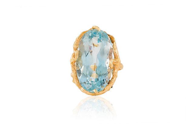 Aquamarine Ring 30.00 Carat Top