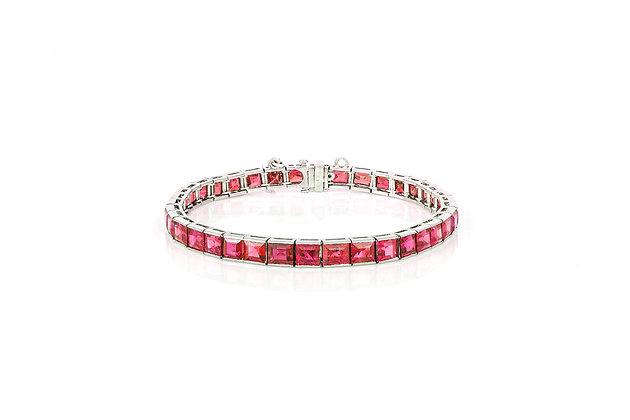 Art Deco Ruby Line Bracelet front view
