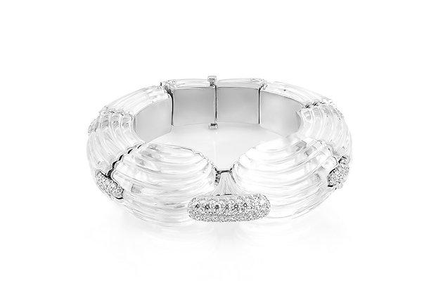 A Rock Crystal And Diamond Bracelet by David Webb