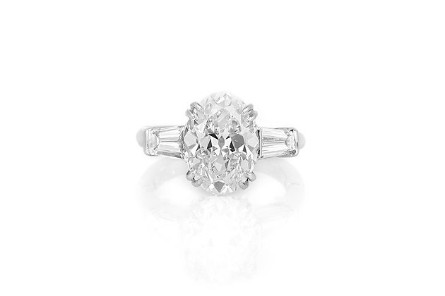 4.02 Carat Art Deco Engagement Ring