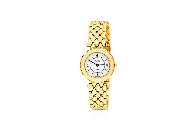 Van Cleef & Arpels Ladies Gold Watch Front View