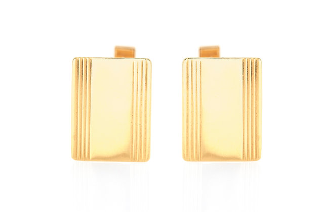 Rectangular Gold Cufflinks front