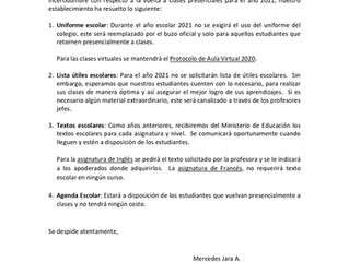 CIRCULAR INSPECTORÍA - DICIEMBRE 2020
