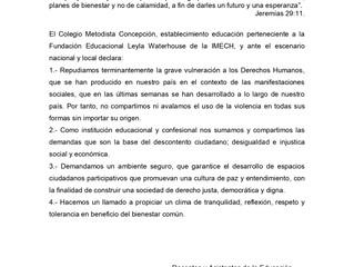 Declaración Pública - Martes 05 de Noviembre, 2019.