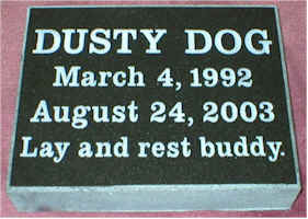 Pet Memorial 8 (Dusty)