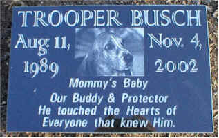 Pet Memorial 11 (Trooper)
