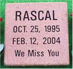 Pet Memorial 3 (Rascal)