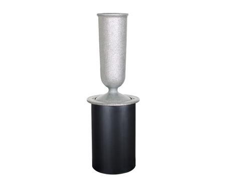 Silver Grey Gem In-Ground Vase $150