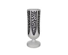 Silver Grey Crest Vase $120