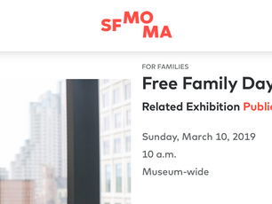 SFMOMA Family Day BOATS Reading & Mobile Craft Project - Sunday March 10 at 12:30 in the White B