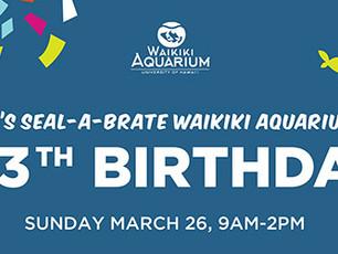 HONEY GIRL meet and greet at Waikiki Aquarium's 113th Birthday Celebration