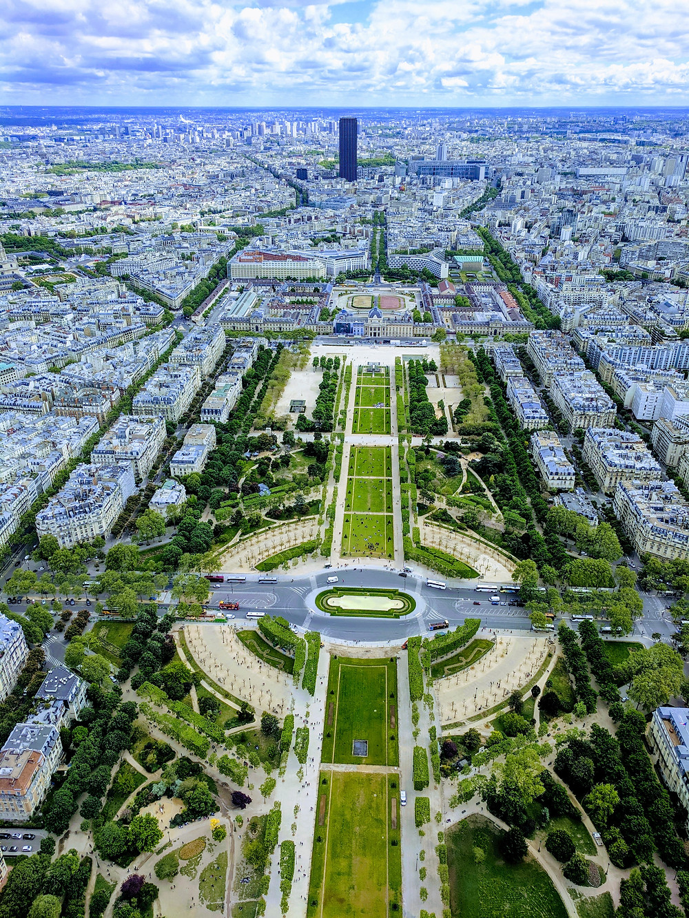 City of Love(Paris).. from atop the Eiffel Tower..