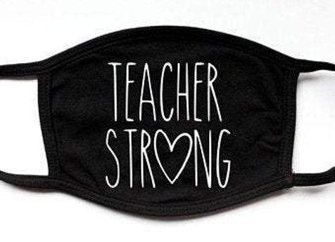 Teacher Strong   Fashion Funny Black Face Mask