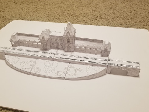 Disneyland Train Station Cutout