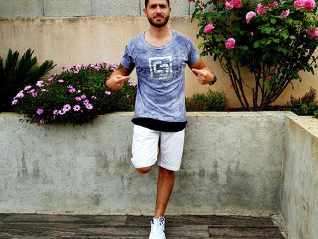 French celebrity Anthony Termine - T-shirt by Ewa Stepaniuk Fashion Designer