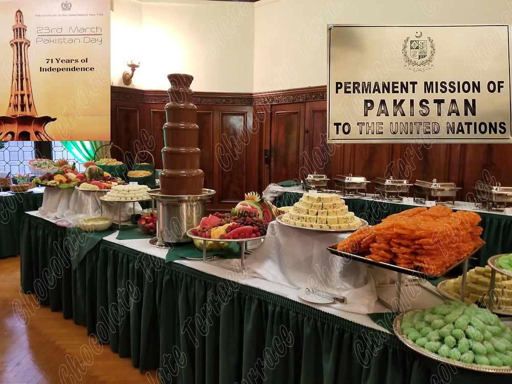 Chocolate Terrace INC for Pakistan Mission at United Nations