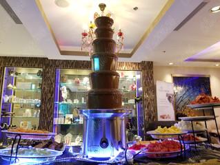 Giant chocolate fondue fountain? Really?