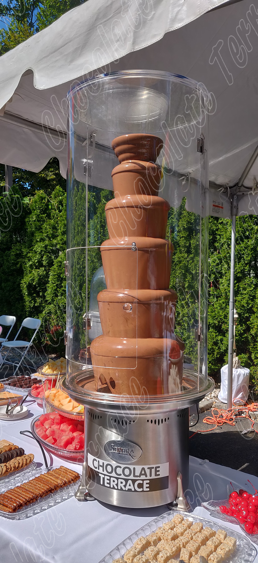 Chocolate Fountain wind guard
