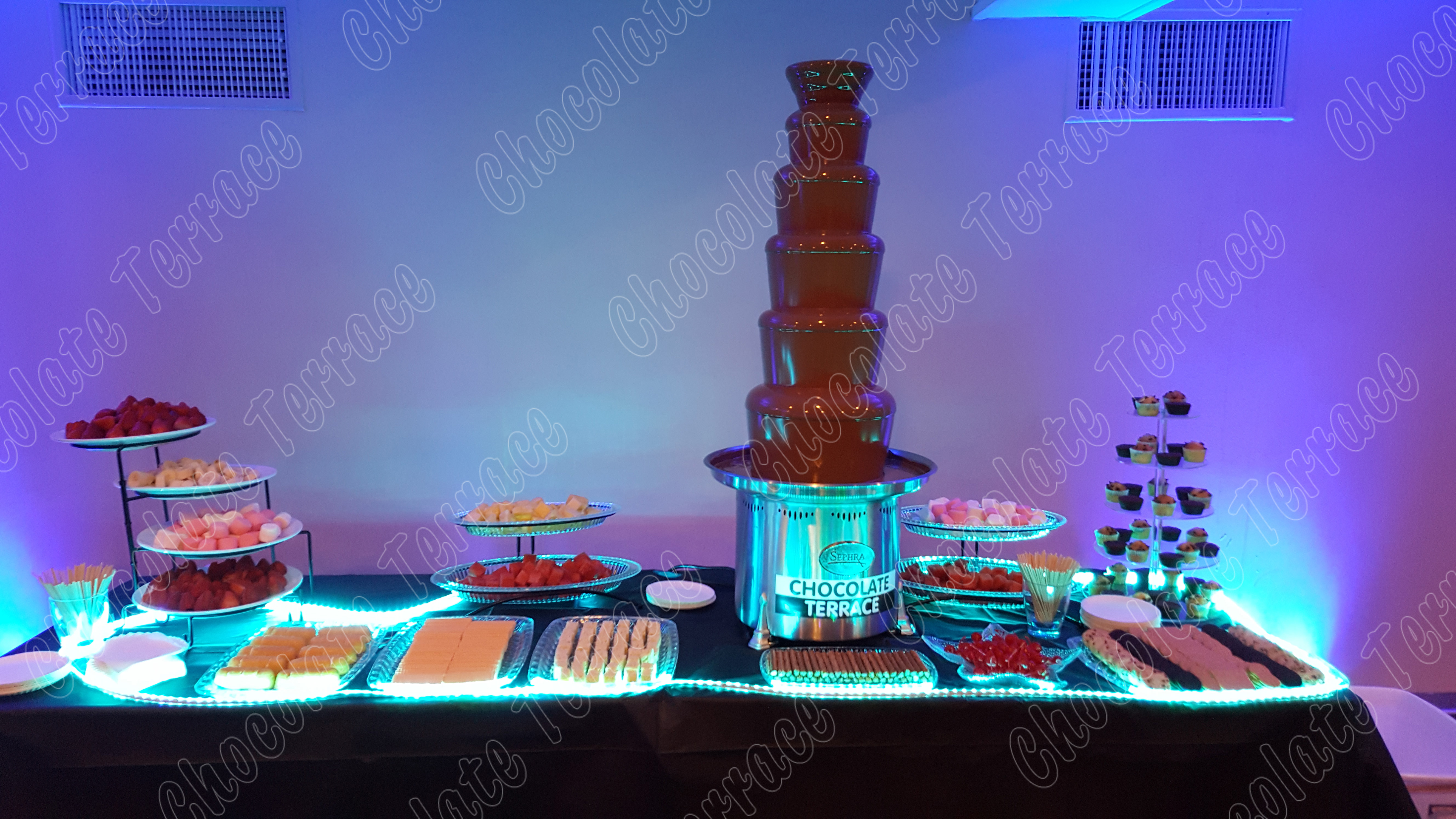 Up to 60 people chocolate fountain package
