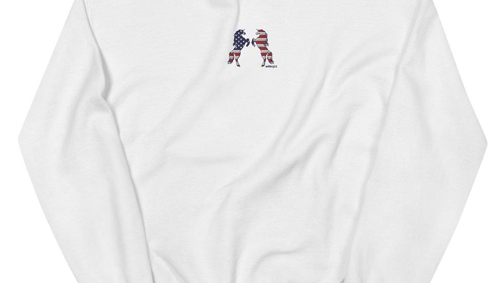 Red, White and Horses Unisex Sweatshirt