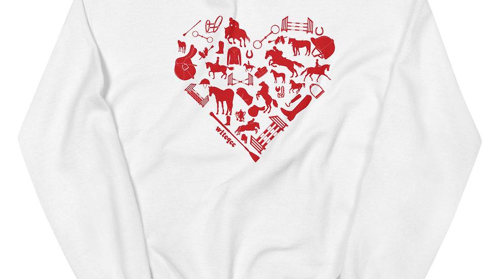 Heart Horse (ENGLISH) Unisex Sweatshirt