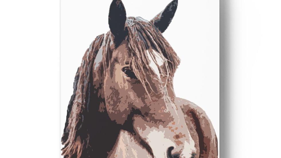 Brave Bronco Art Print