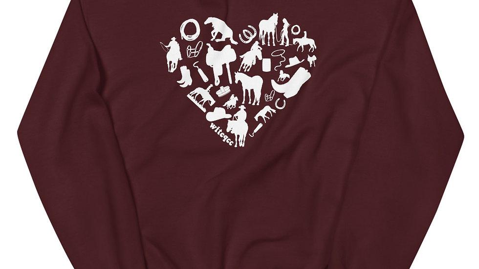 Heart Horse (WESTERN) Unisex Sweatshirt